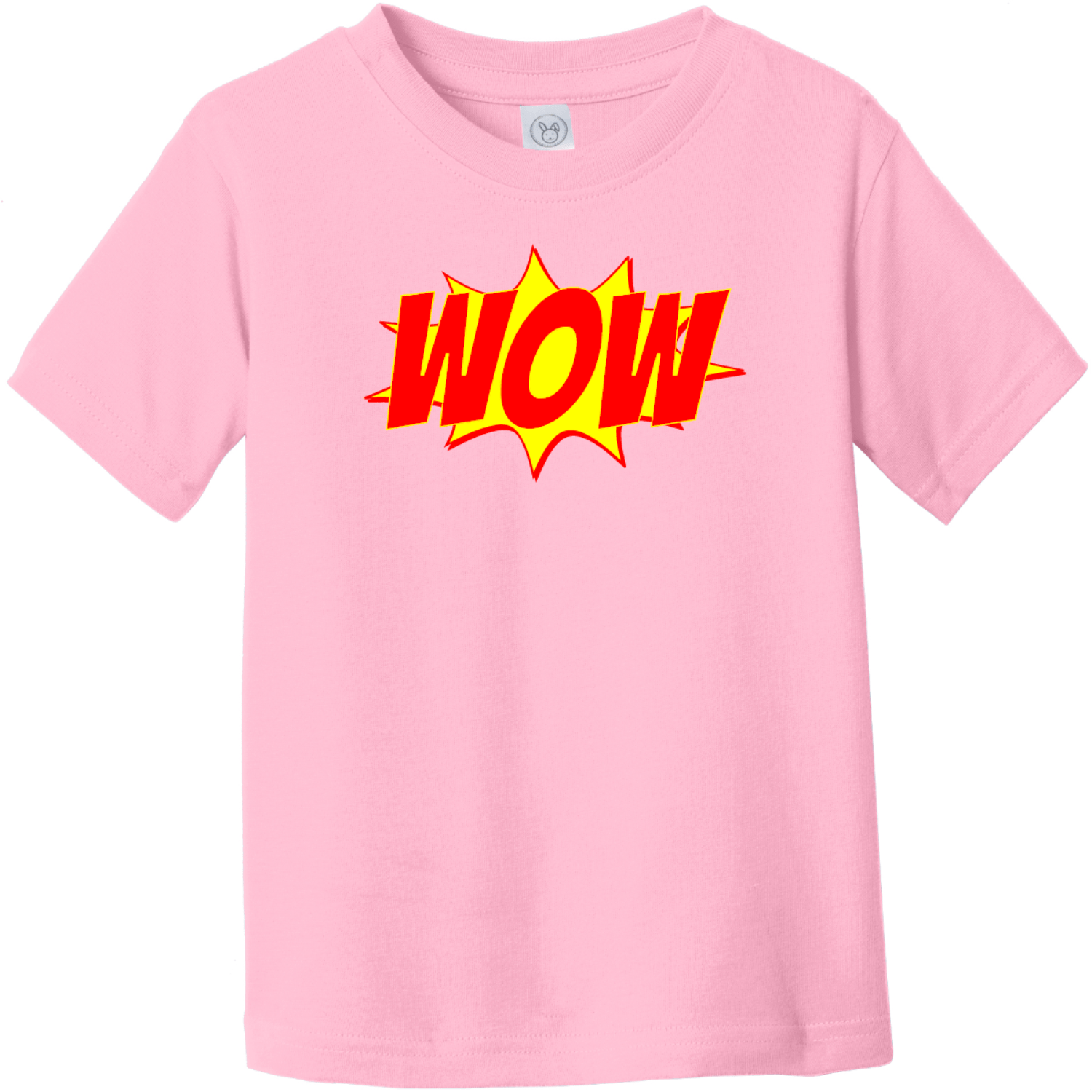 Wow Word Explosion Toddler T-Shirt Pink Rabbit Skins Toddler Fine Jersey Tee RS3321