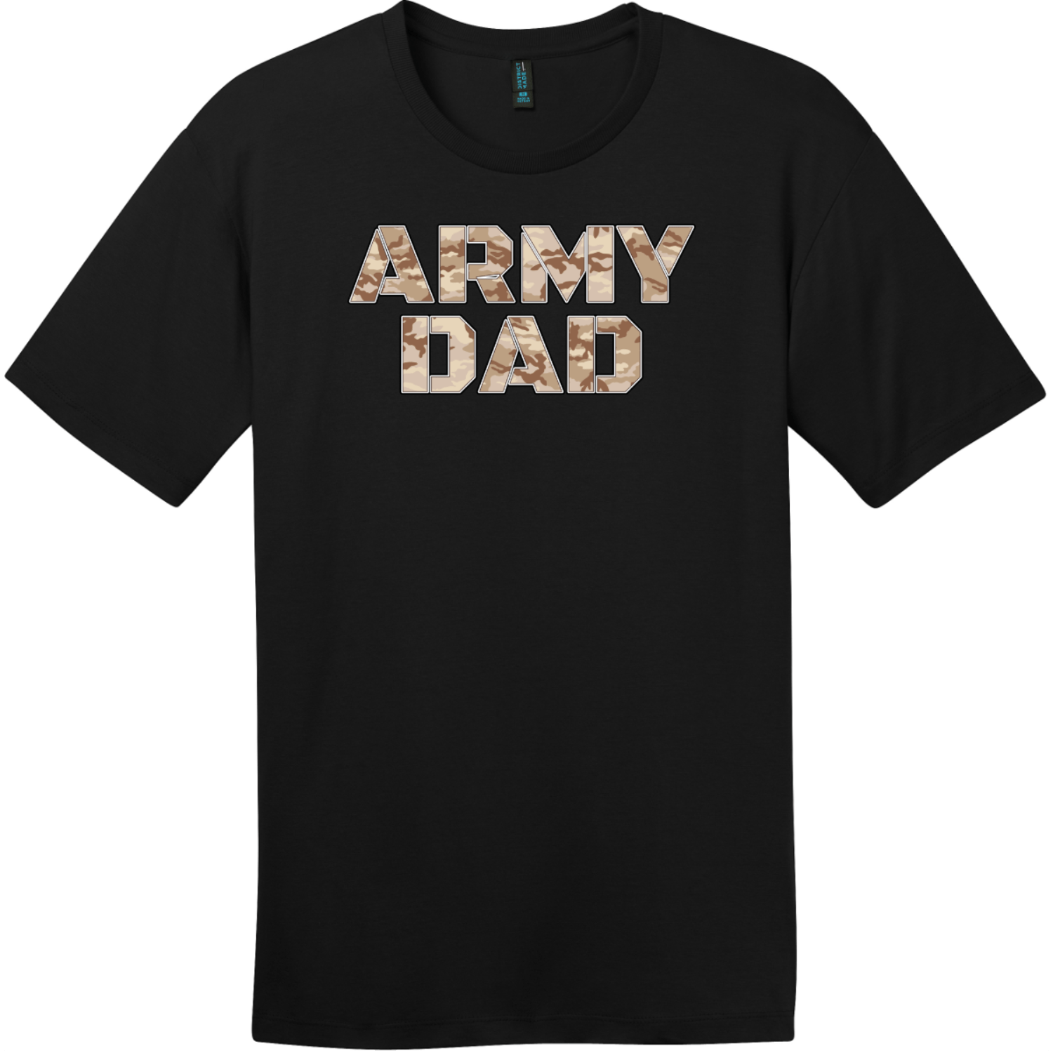 Army Dad Sand Camo T-Shirt Jet Black District Perfect Weight Tee DT104