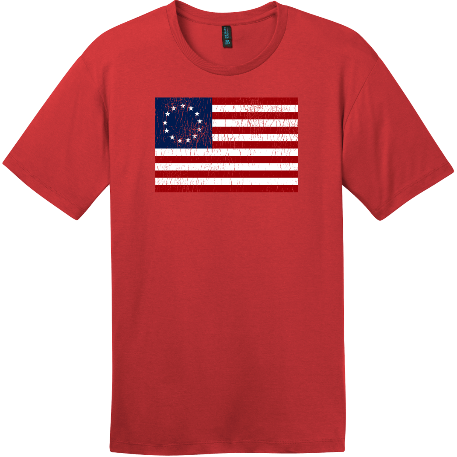 Betsy Ross American Flag Vintage T-Shirt Classic Red District Perfect Weight Tee DT104