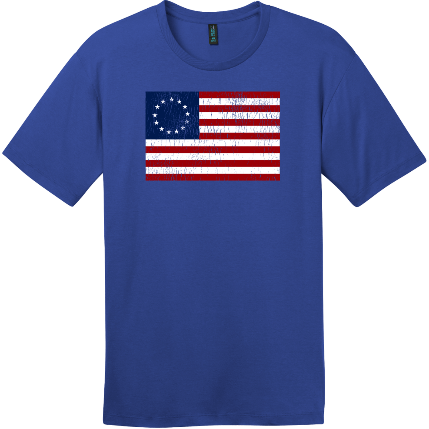 Betsy Ross American Flag Vintage T-Shirt Deep Royal District Perfect Weight Tee DT104
