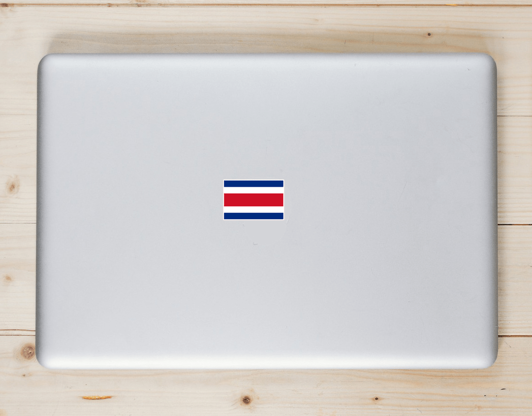 Costa Rica Flag Sticker Laptop Sticker