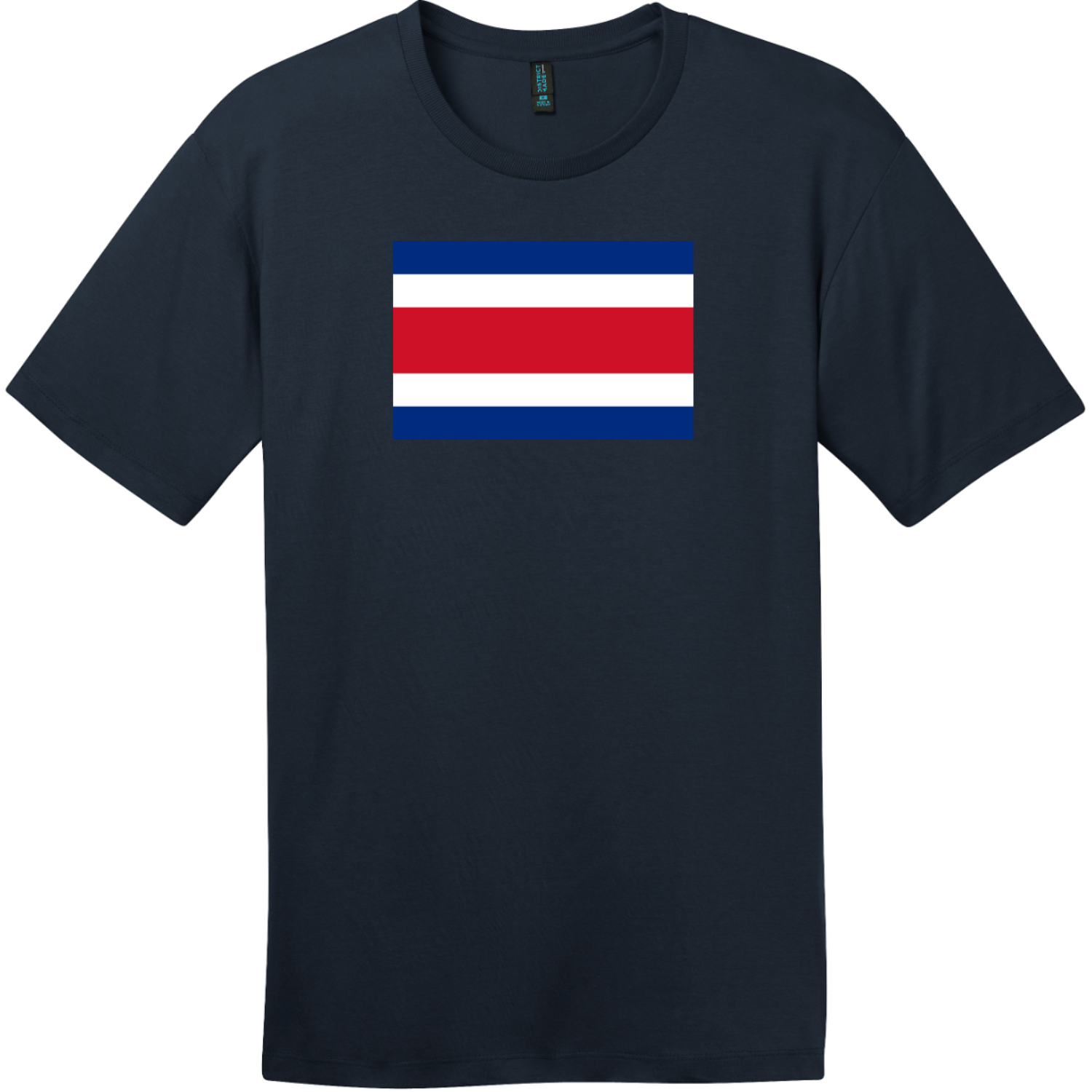 Costa Rica Flag T-Shirt New Navy District Perfect Weight Tee DT104