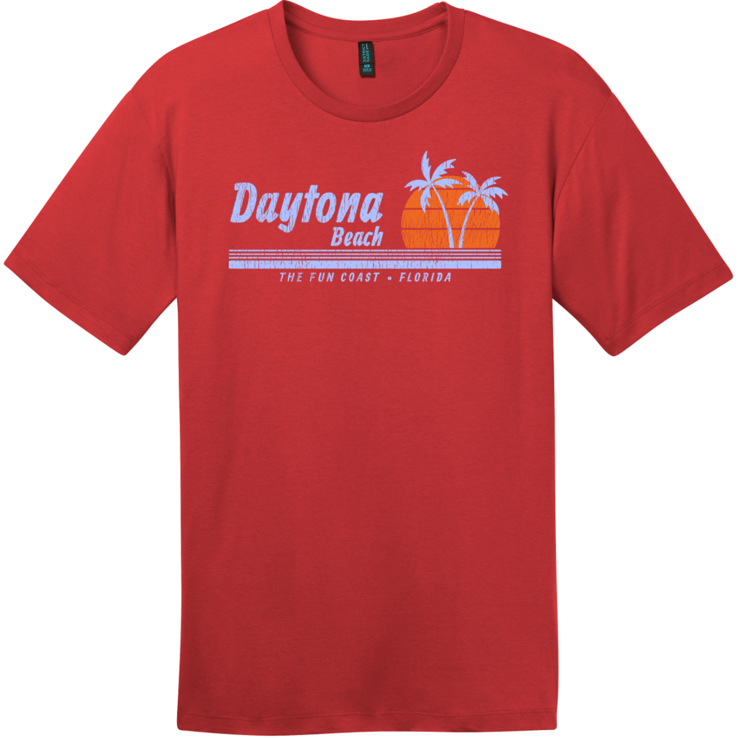 Daytona Beach Florida Fun Coast T-Shirt Classic Red District Perfect Weight Tee DT104