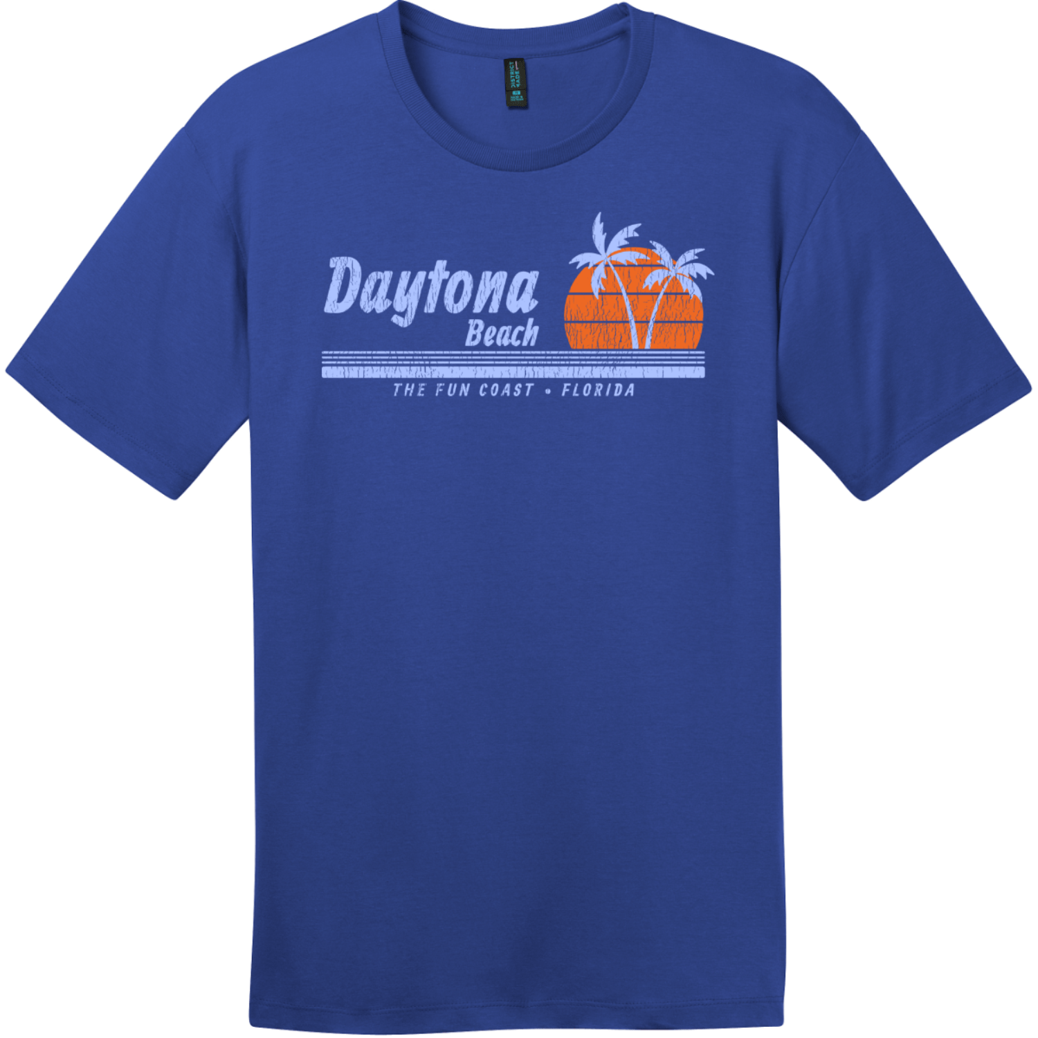 Daytona Beach Florida Fun Coast T-Shirt Deep Royal District Perfect Weight Tee DT104