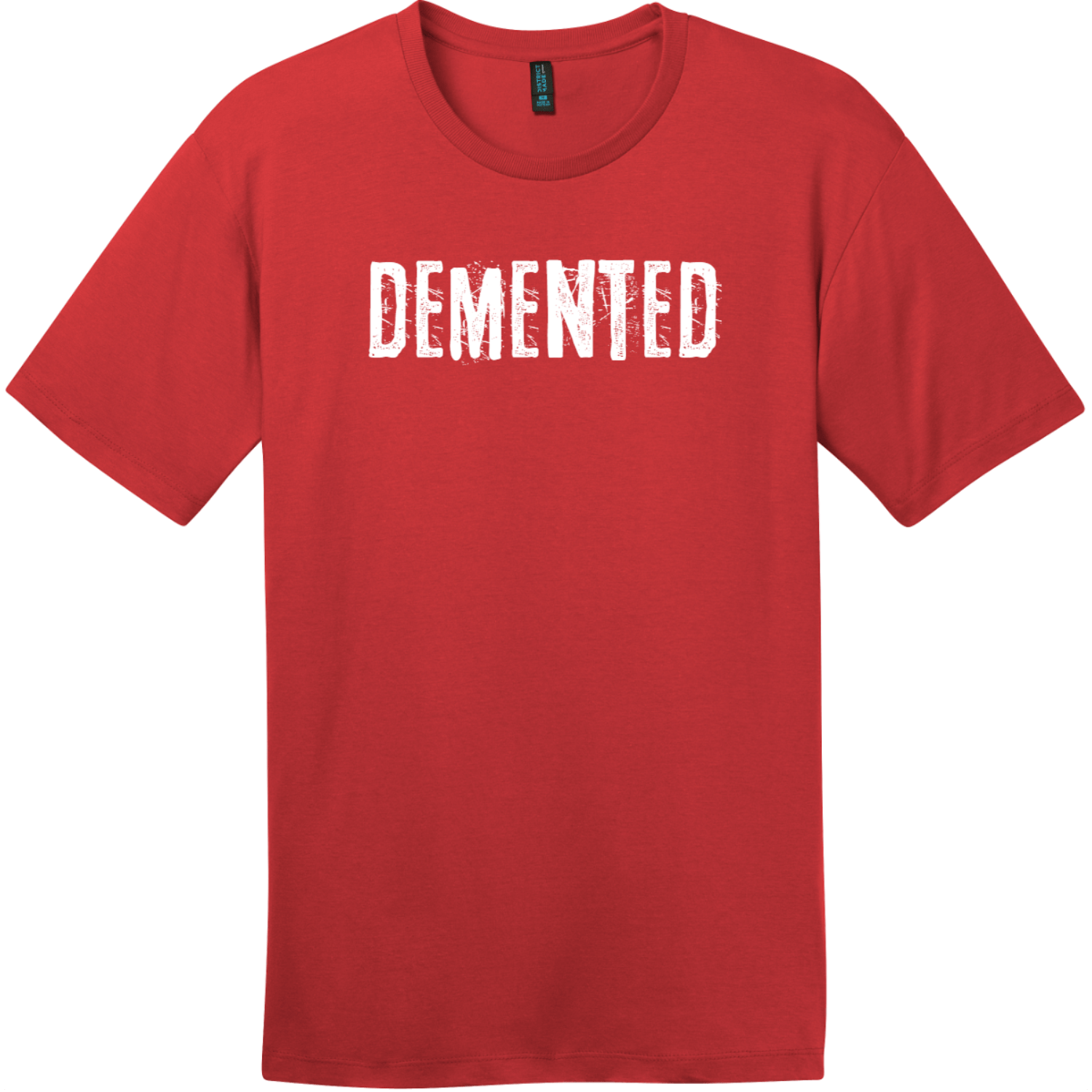Demented T-Shirt Classic Red District Perfect Weight Tee DT104