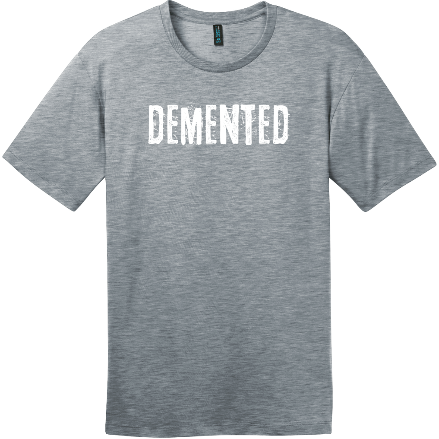 Demented T-Shirt Heathered Steel District Perfect Weight Tee DT104
