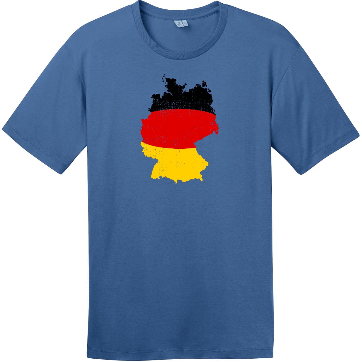 Germany Flag Country Shape T-Shirt Maritime Blue District Perfect Weight Tee DT104