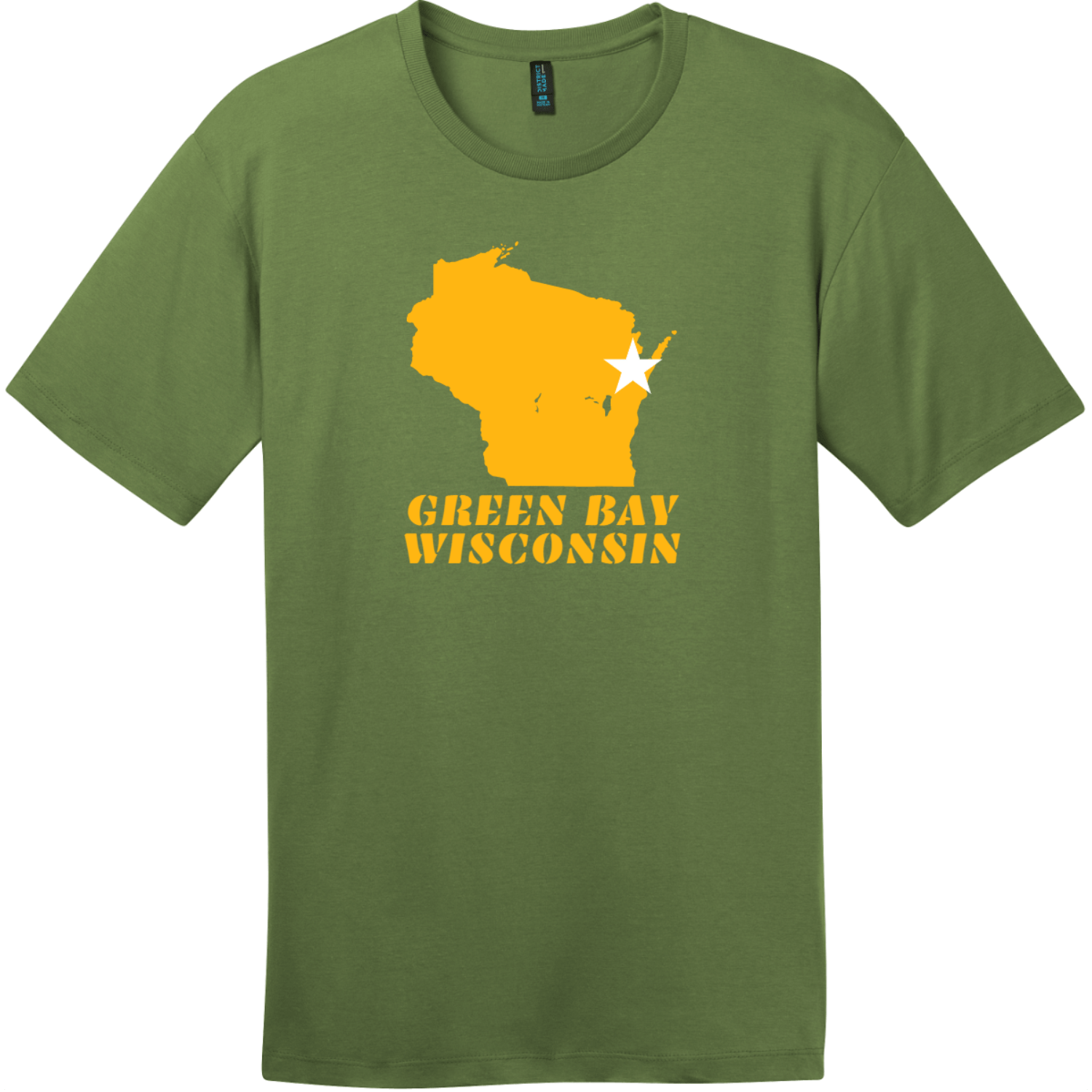 Green Bay Wisconsin State Retro T-Shirt Fresh Fatigue District Perfect Weight Tee DT104