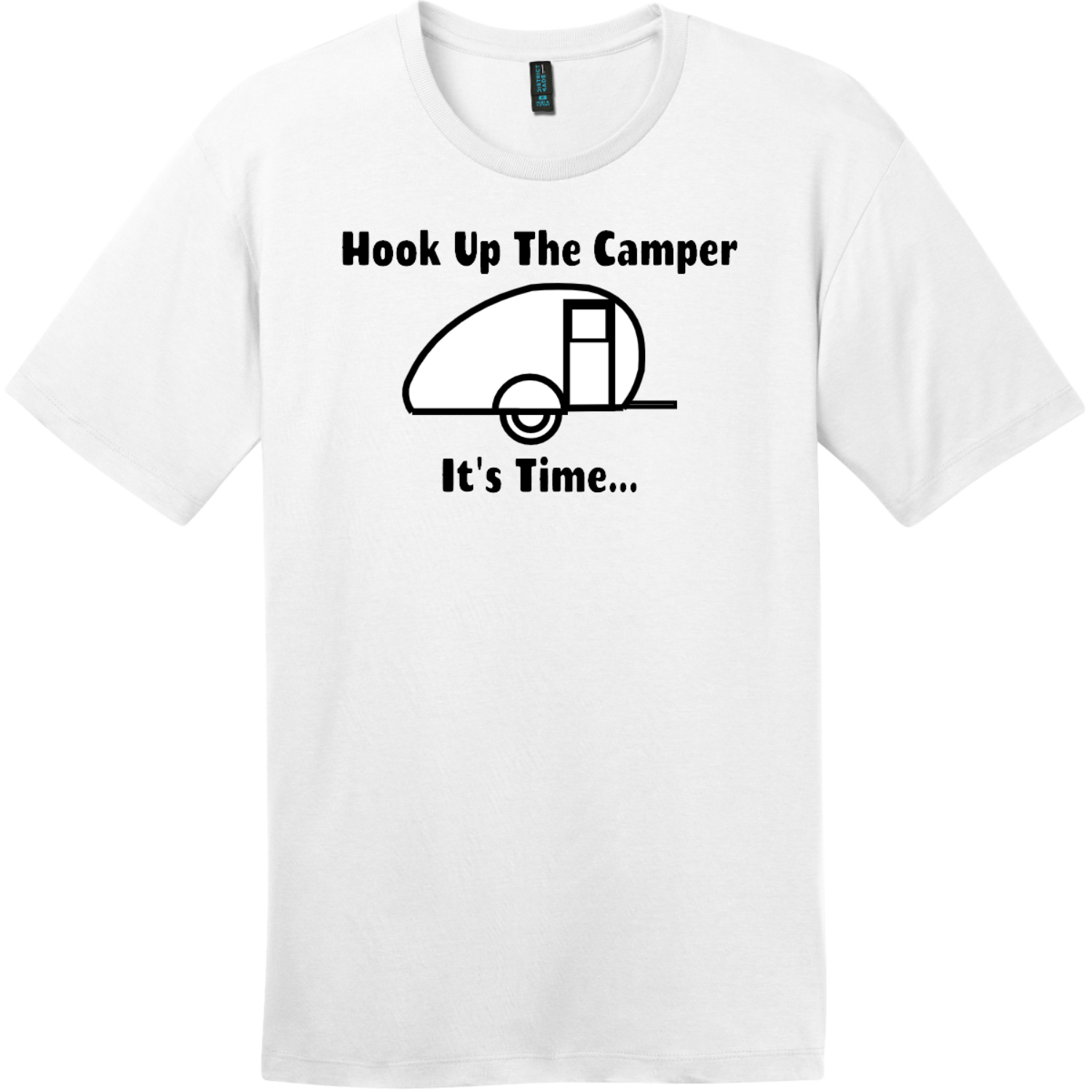 Hook Up The Camper T-Shirt Bright White District Perfect Weight Tee DT104