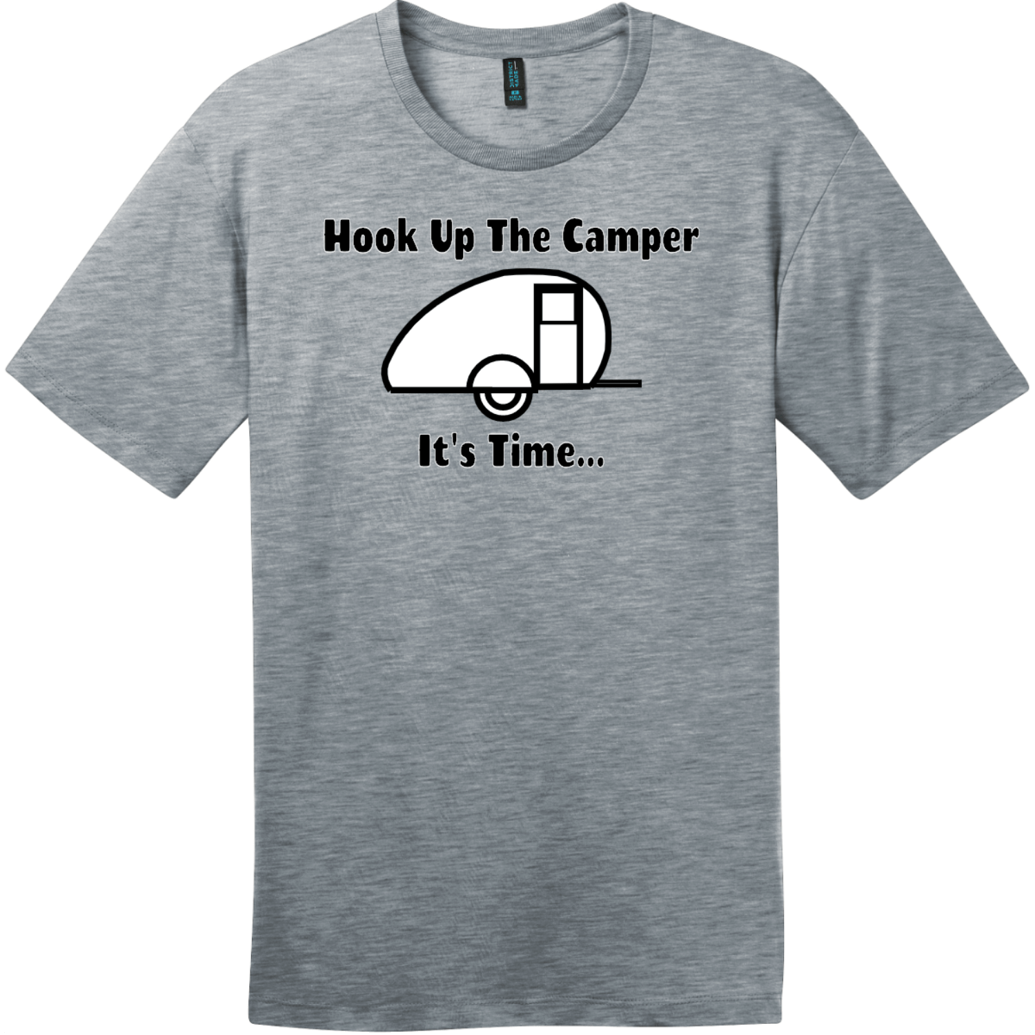 Hook Up The Camper T-Shirt Heathered Steel District Perfect Weight Tee DT104