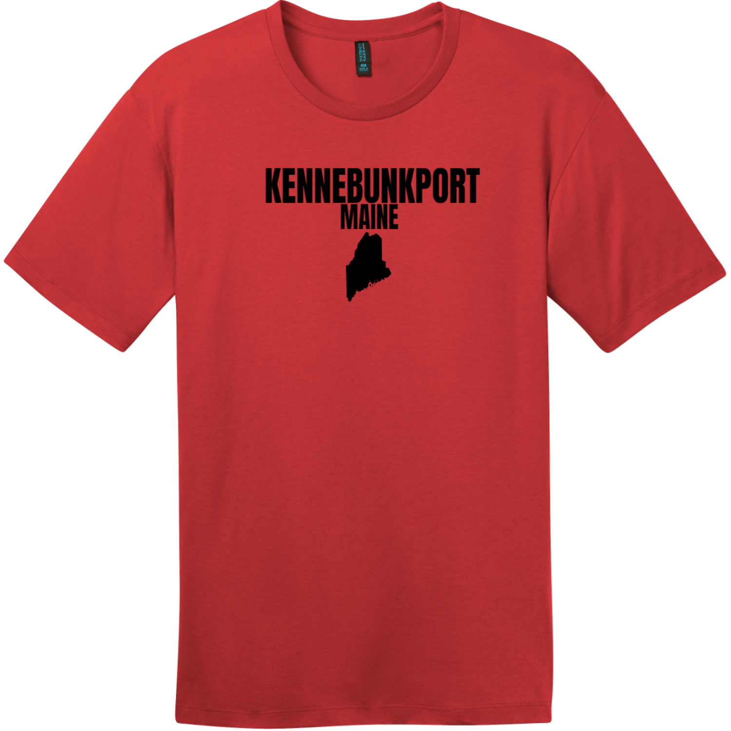Kennebunkport Maine State T-Shirt Classic Red District Perfect Weight Tee DT104