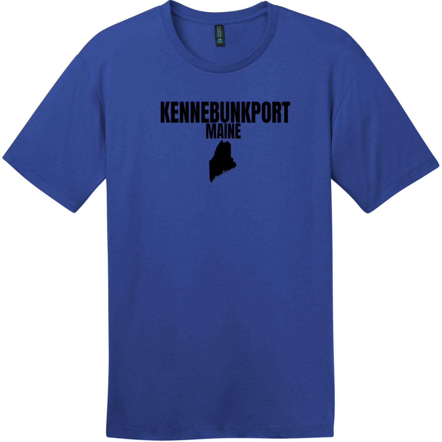 Kennebunkport Maine State T-Shirt Deep Royal District Perfect Weight Tee DT104