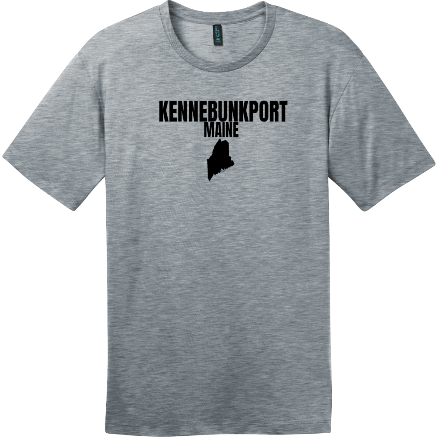 Kennebunkport Maine State T-Shirt Heathered Steel District Perfect Weight Tee DT104