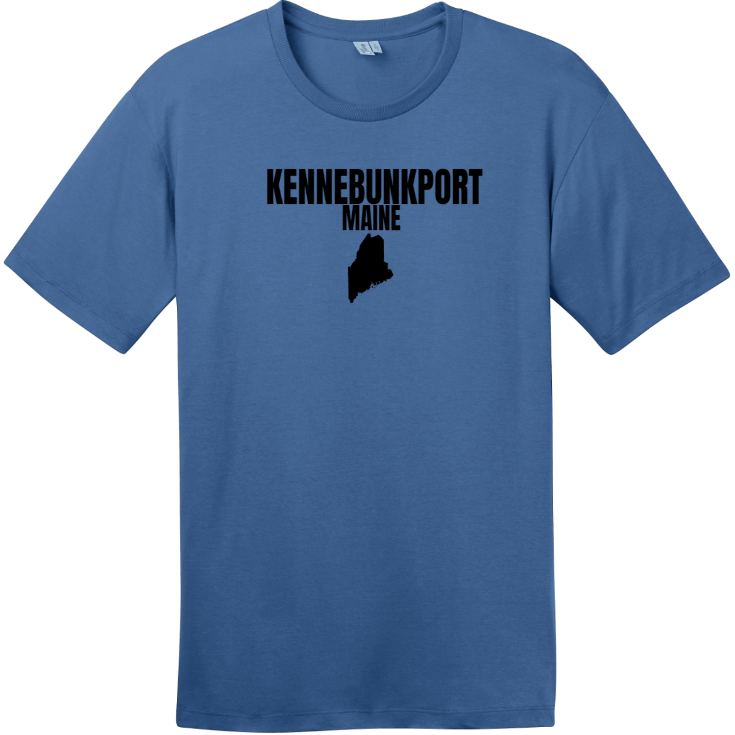 Kennebunkport Maine State T-Shirt Maritime Blue District Perfect Weight Tee DT104