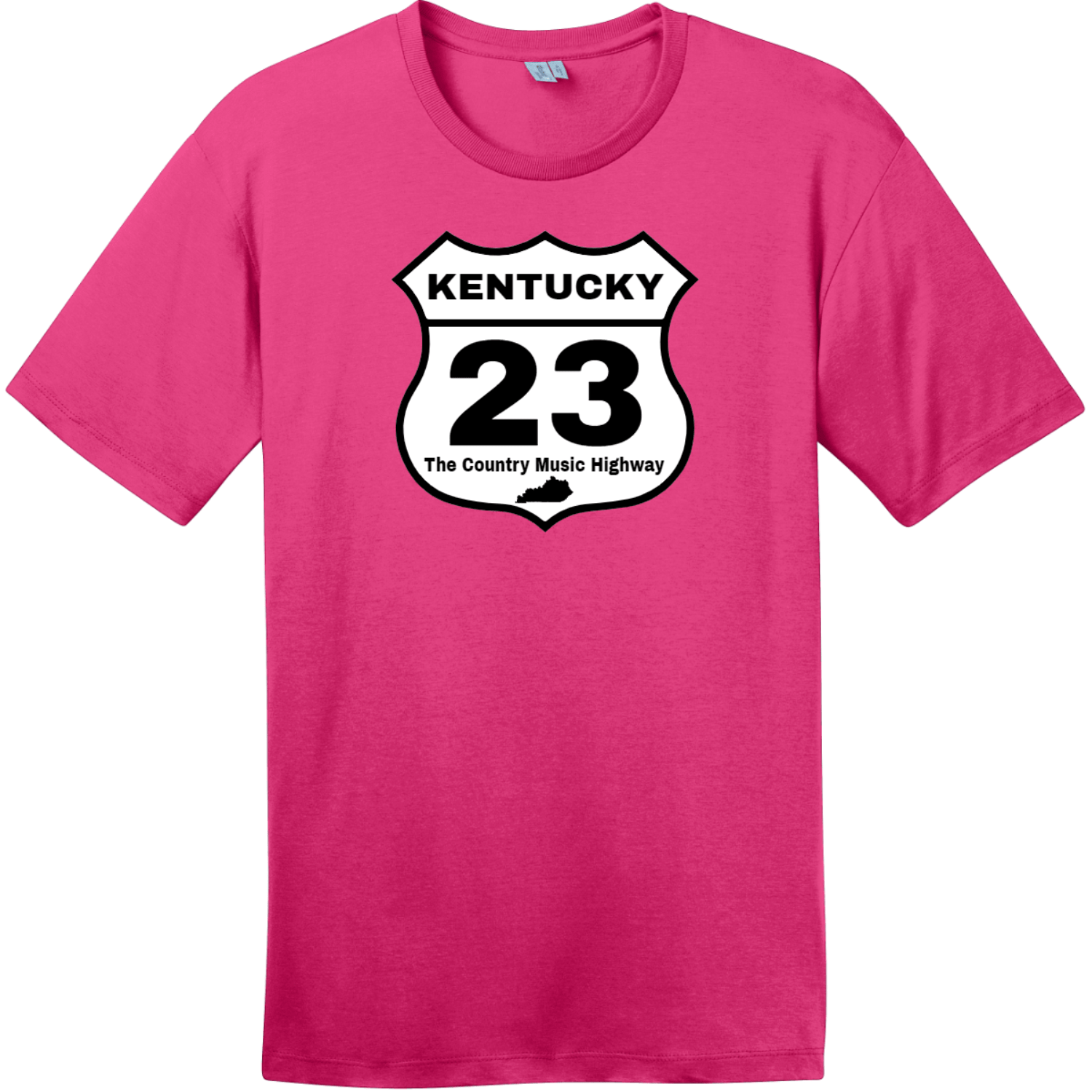 Kentucky 23 Country Music Highway T-Shirt Dark Fuchsia District Perfect Weight Tee DT104