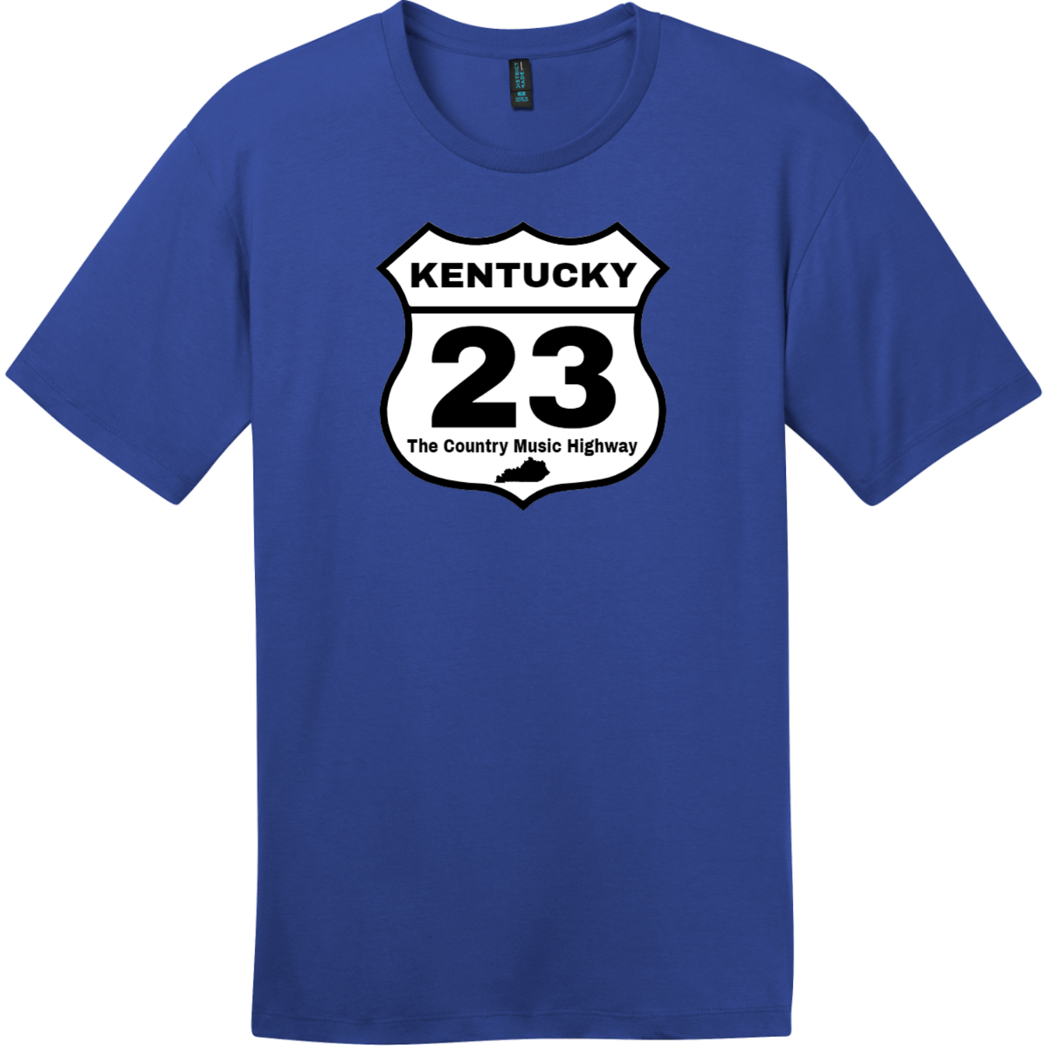 Kentucky 23 Country Music Highway T-Shirt Deep Royal District Perfect Weight Tee DT104