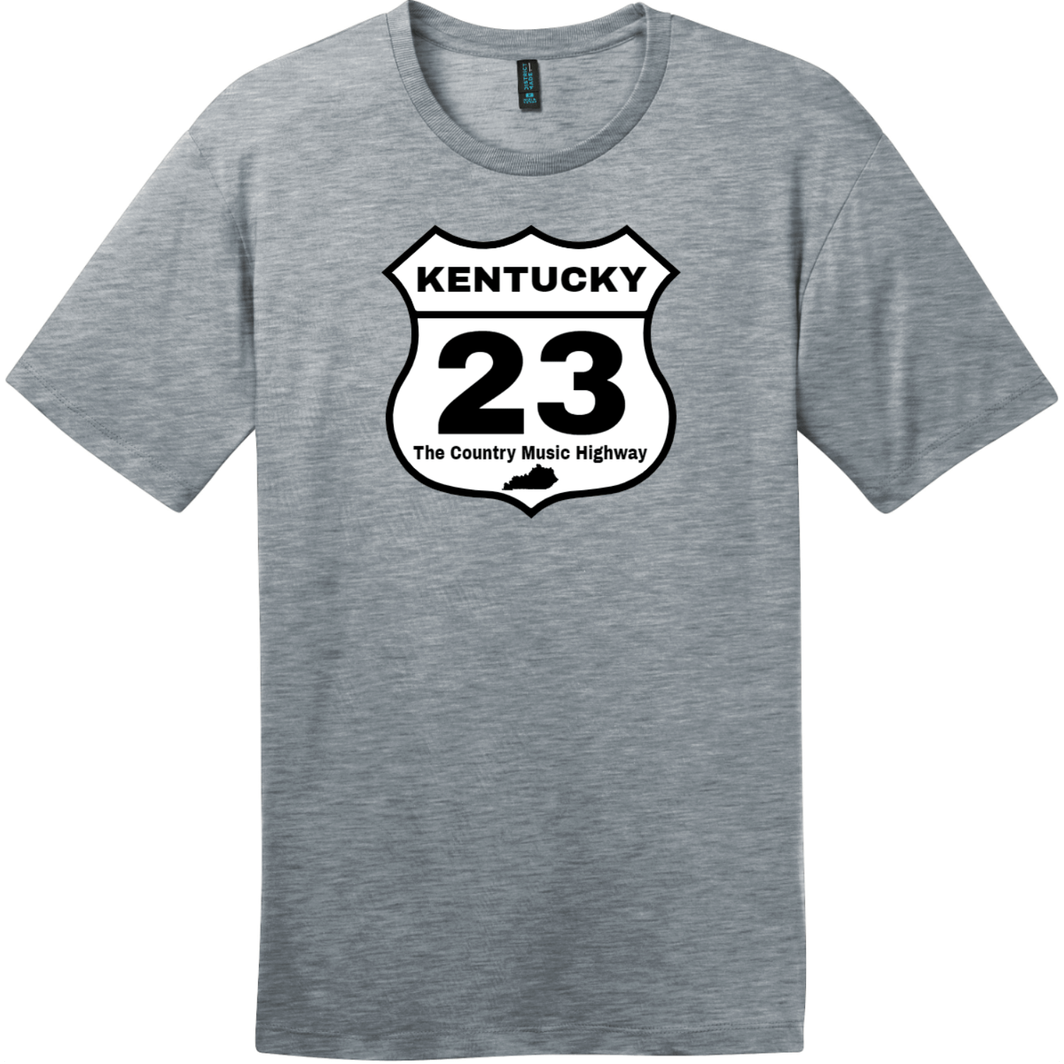 Kentucky 23 Country Music Highway T-Shirt Heathered Steel District Perfect Weight Tee DT104