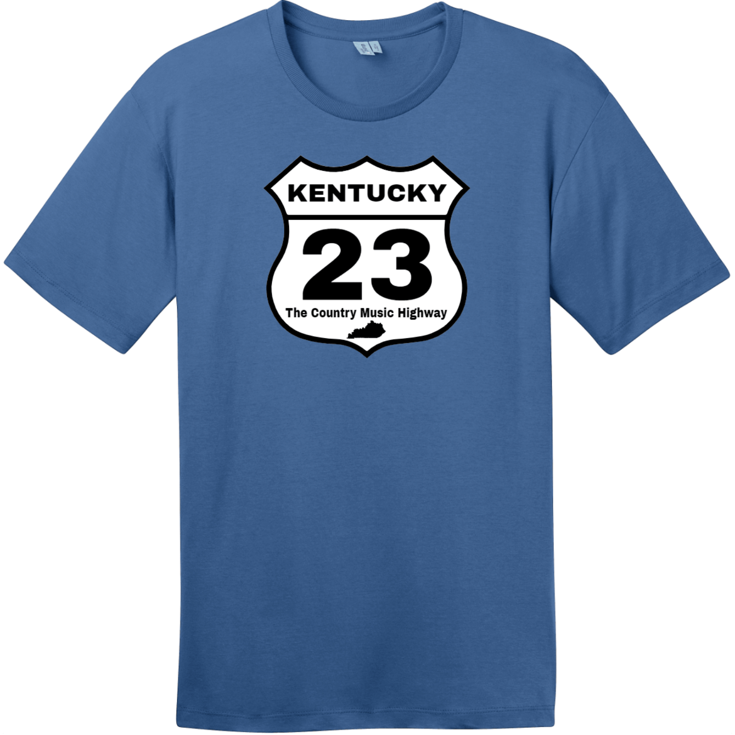 Kentucky 23 Country Music Highway T-Shirt Maritime Blue District Perfect Weight Tee DT104