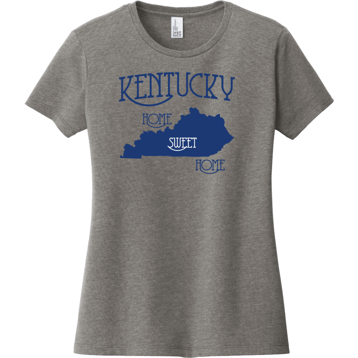 Kentucky Country Home Sweet Home T-Shirt Gray Frost District Women's Very Important Tee DT6002