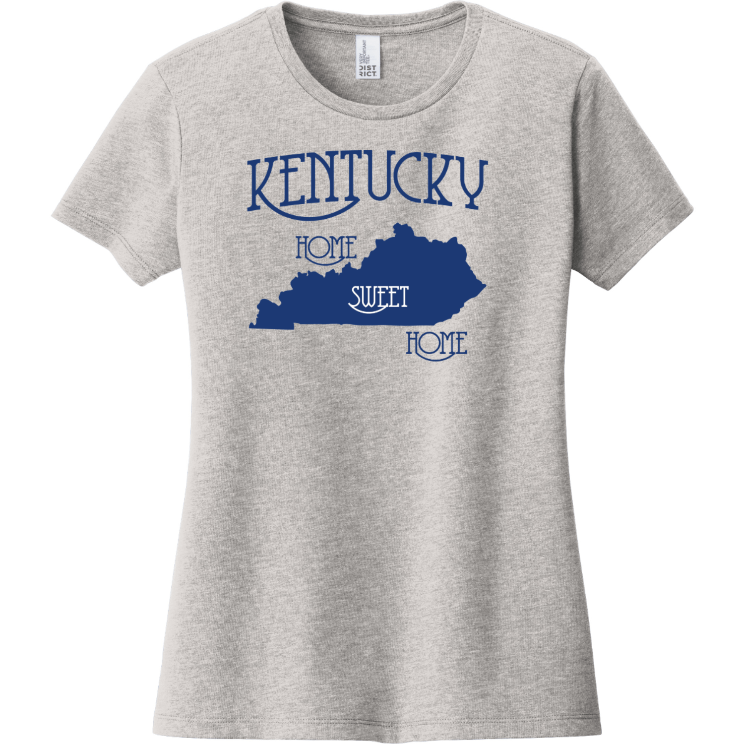 Kentucky Country Home Sweet Home T-Shirt Light Heather Gray District Women's Very Important Tee DT6002