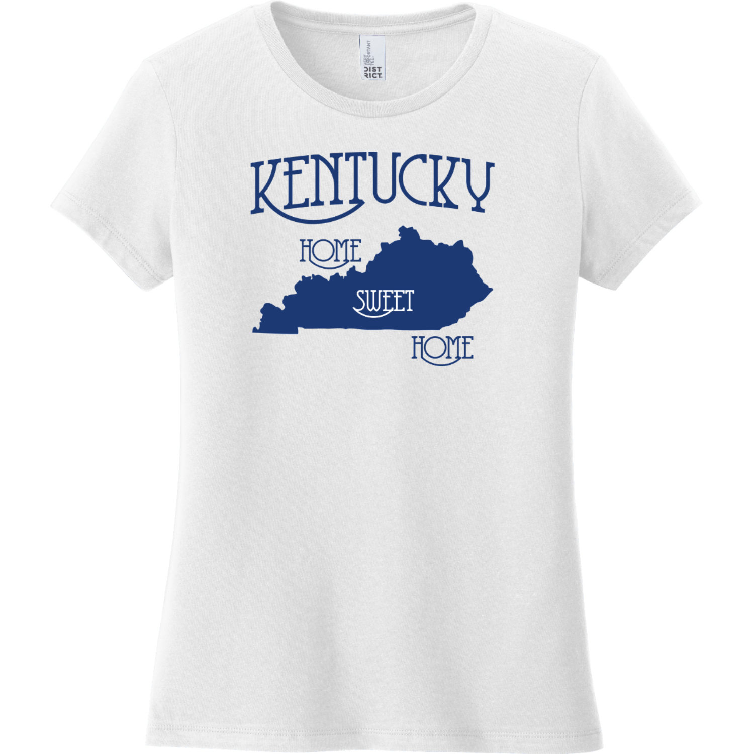 Kentucky Country Home Sweet Home T-Shirt White District Women's Very Important Tee DT6002