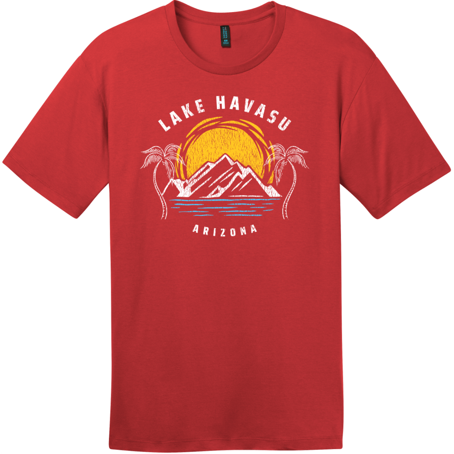 Lake Havasu Arizona T-Shirt Classic Red District Perfect Weight Tee DT104