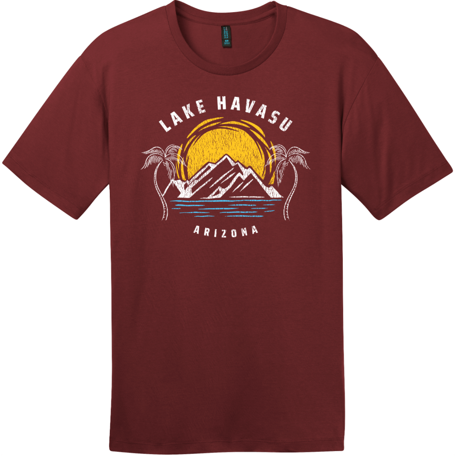 Lake Havasu Arizona T-Shirt Sangria District Perfect Weight Tee DT104