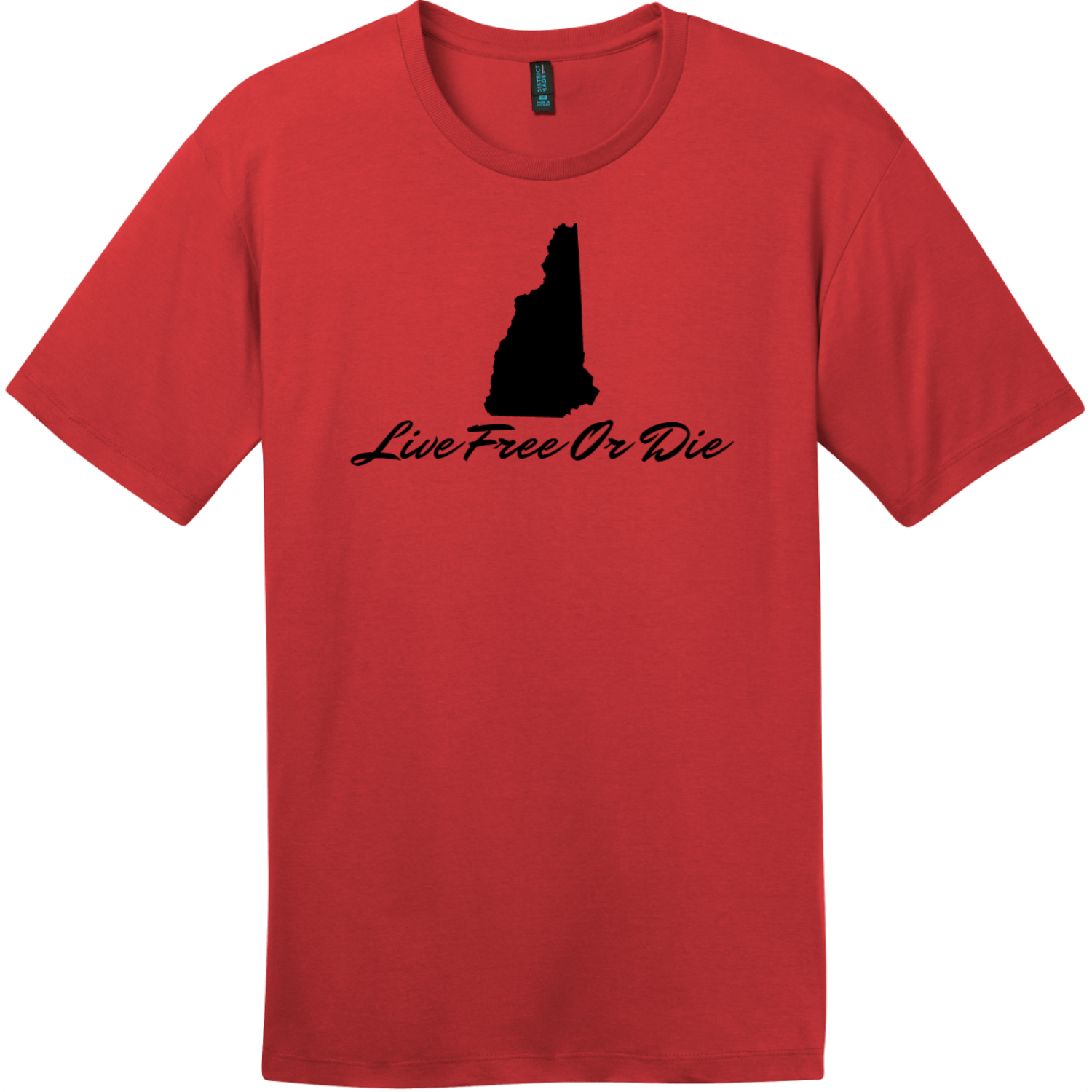 Live Free Or Die New Hampshire T-Shirt Classic Red District Perfect Weight Tee DT104