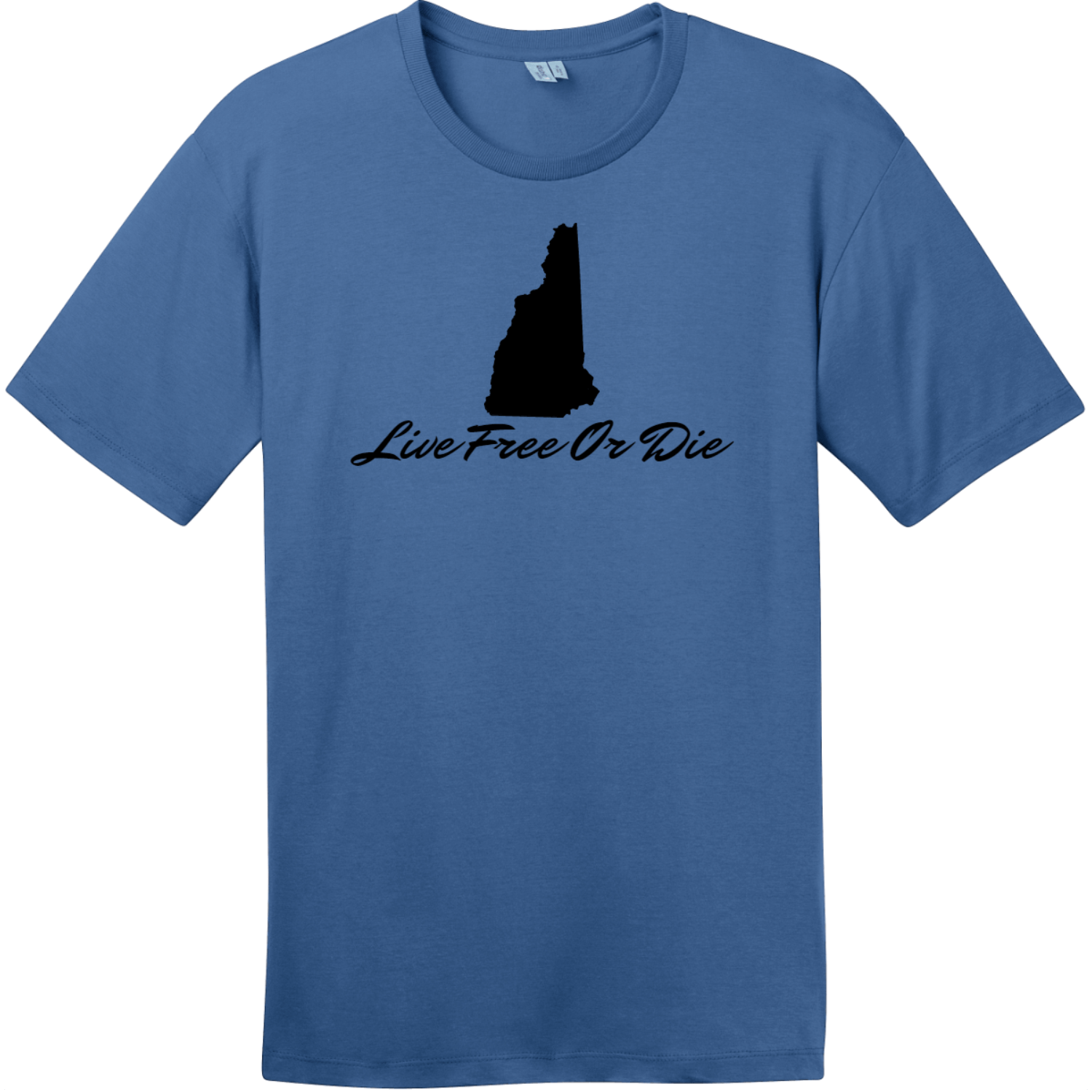 Live Free Or Die New Hampshire T-Shirt Maritime Blue District Perfect Weight Tee DT104