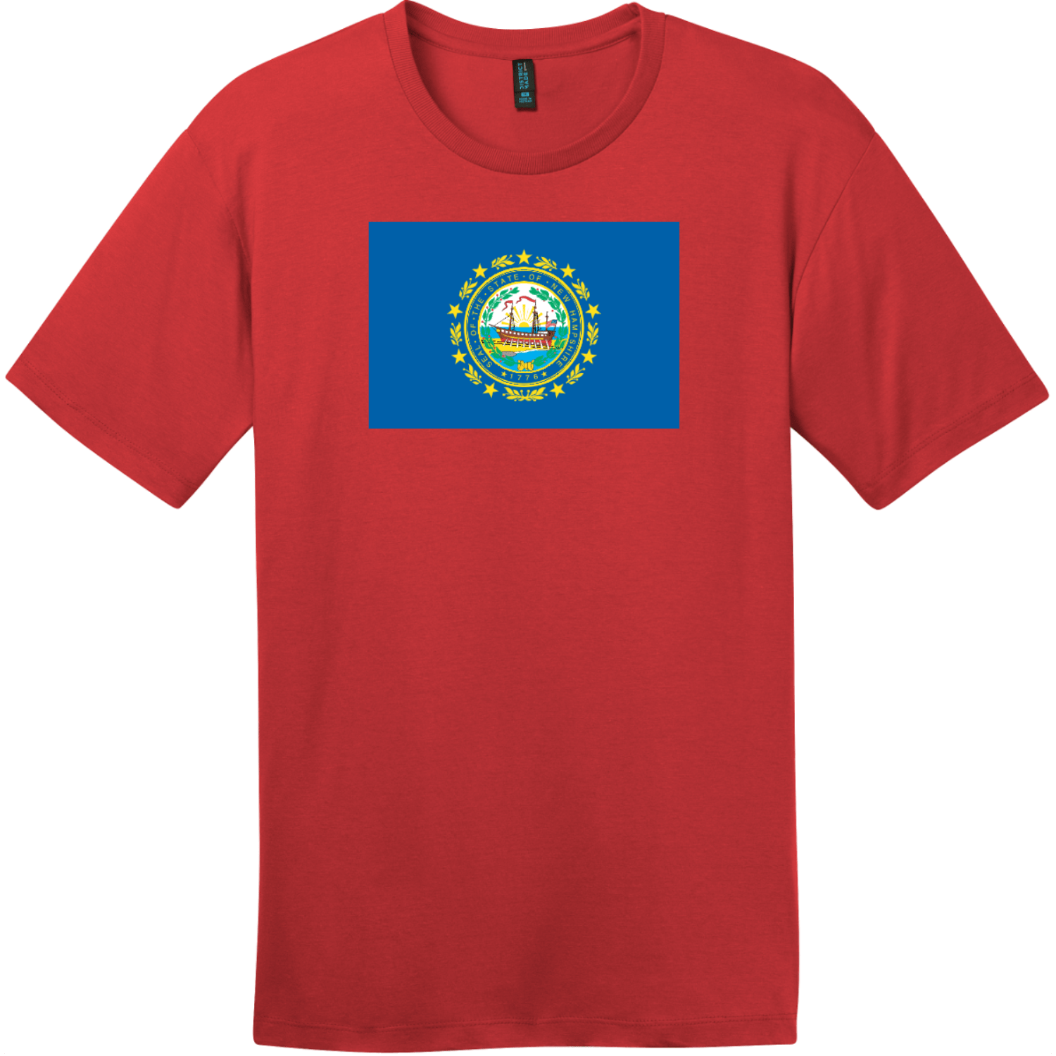 New Hampshire State Flag T-Shirt Classic Red District Perfect Weight Tee DT104