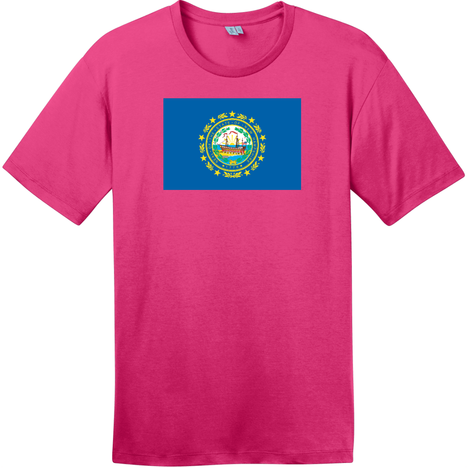 New Hampshire State Flag T-Shirt Dark Fuchsia District Perfect Weight Tee DT104