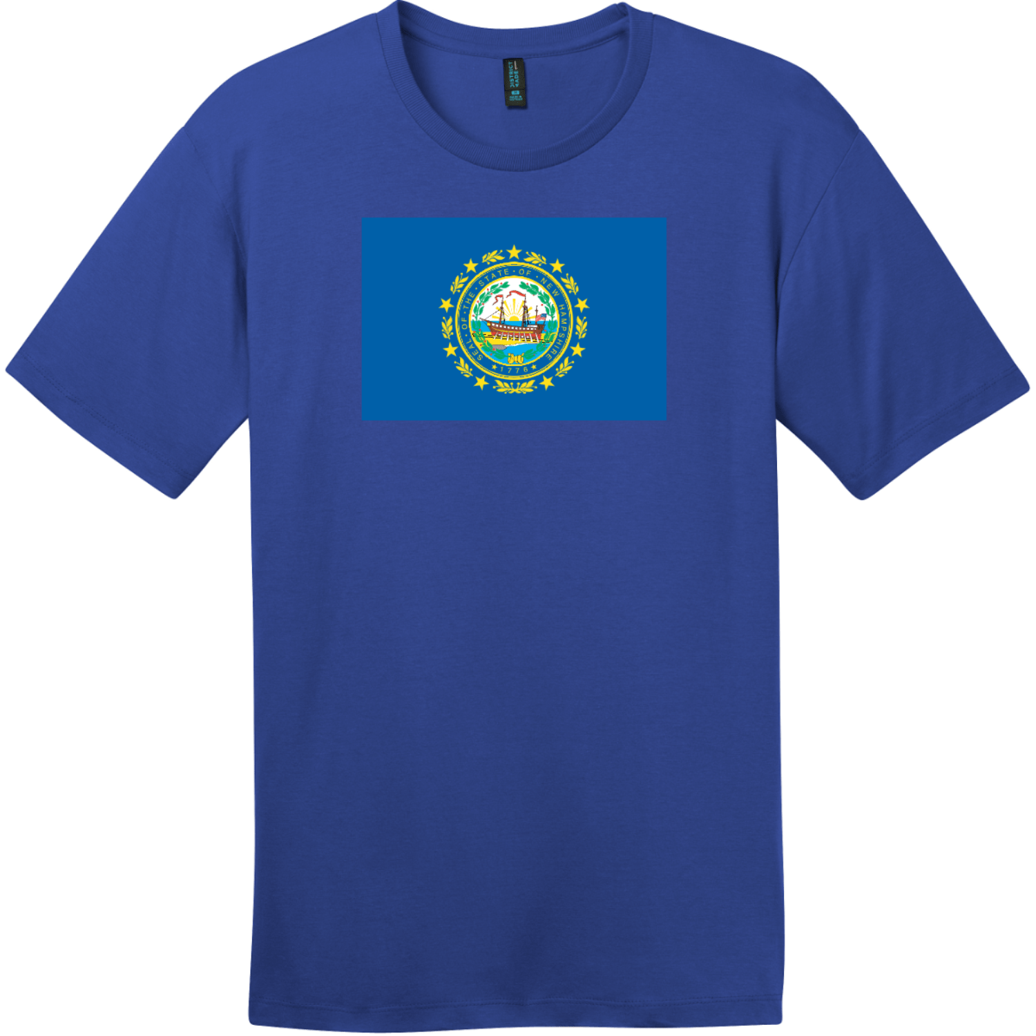 New Hampshire State Flag T-Shirt Deep Royal District Perfect Weight Tee DT104
