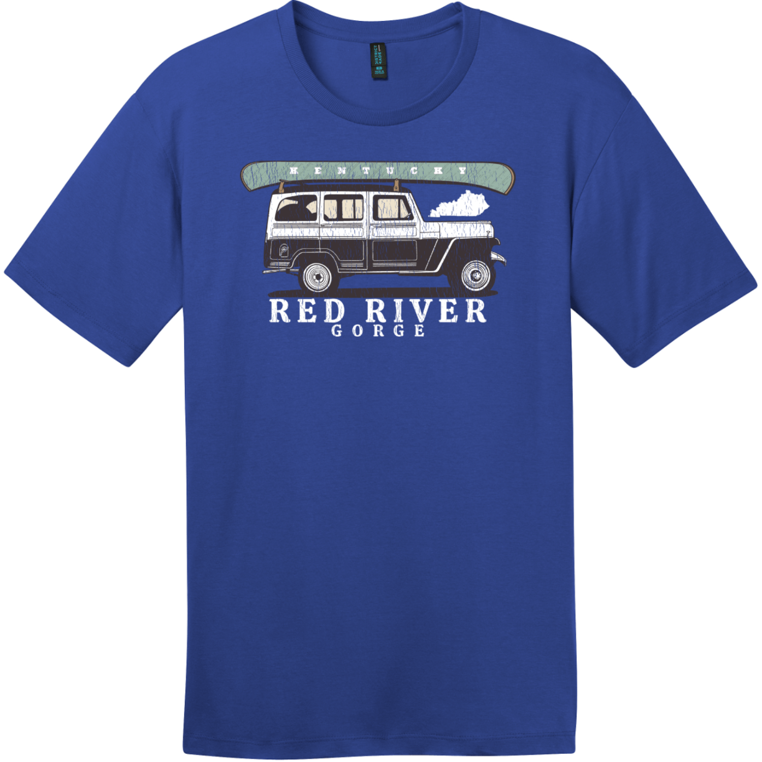 Red River Gorge Kentucky T-Shirt Deep Royal District Perfect Weight Tee DT104