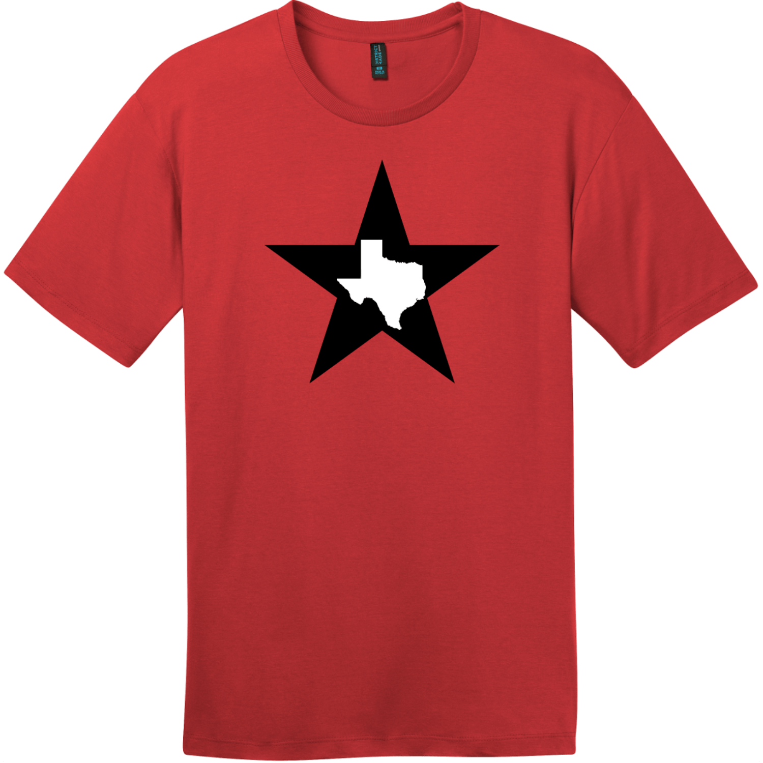 Texas Lone Star State T-Shirt Classic Red District Perfect Weight Tee DT104