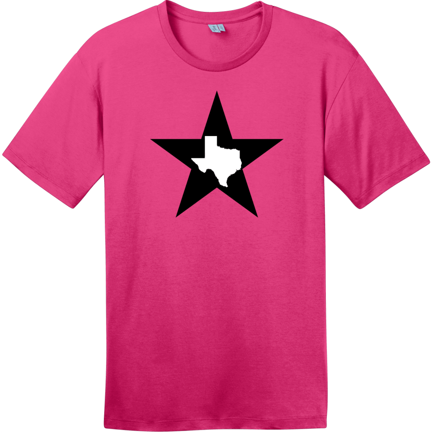 Texas Lone Star State T-Shirt Dark Fuchsia District Perfect Weight Tee DT104