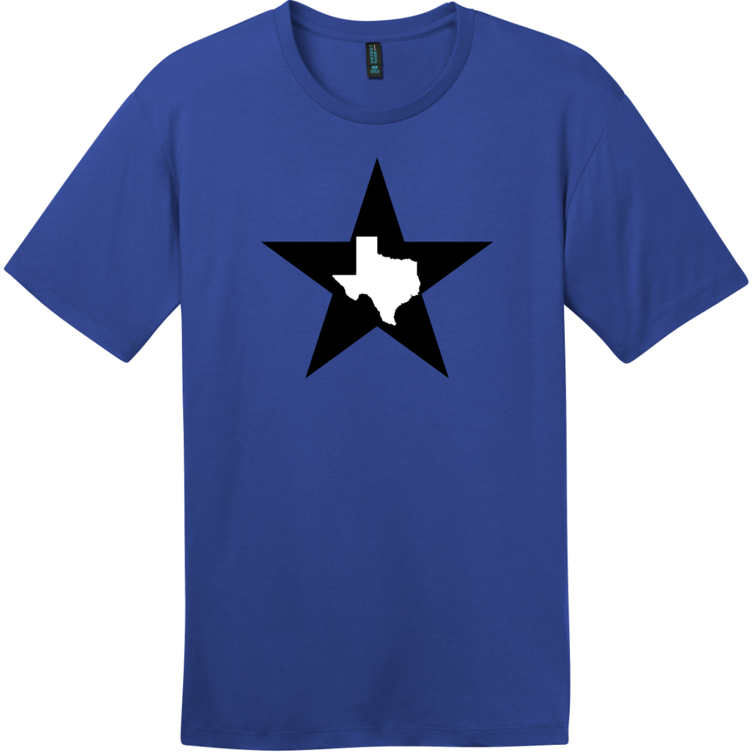 Texas Lone Star State T-Shirt Deep Royal District Perfect Weight Tee DT104