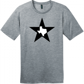 Texas Lone Star State T-Shirt Heathered Steel District Perfect Weight Tee DT104