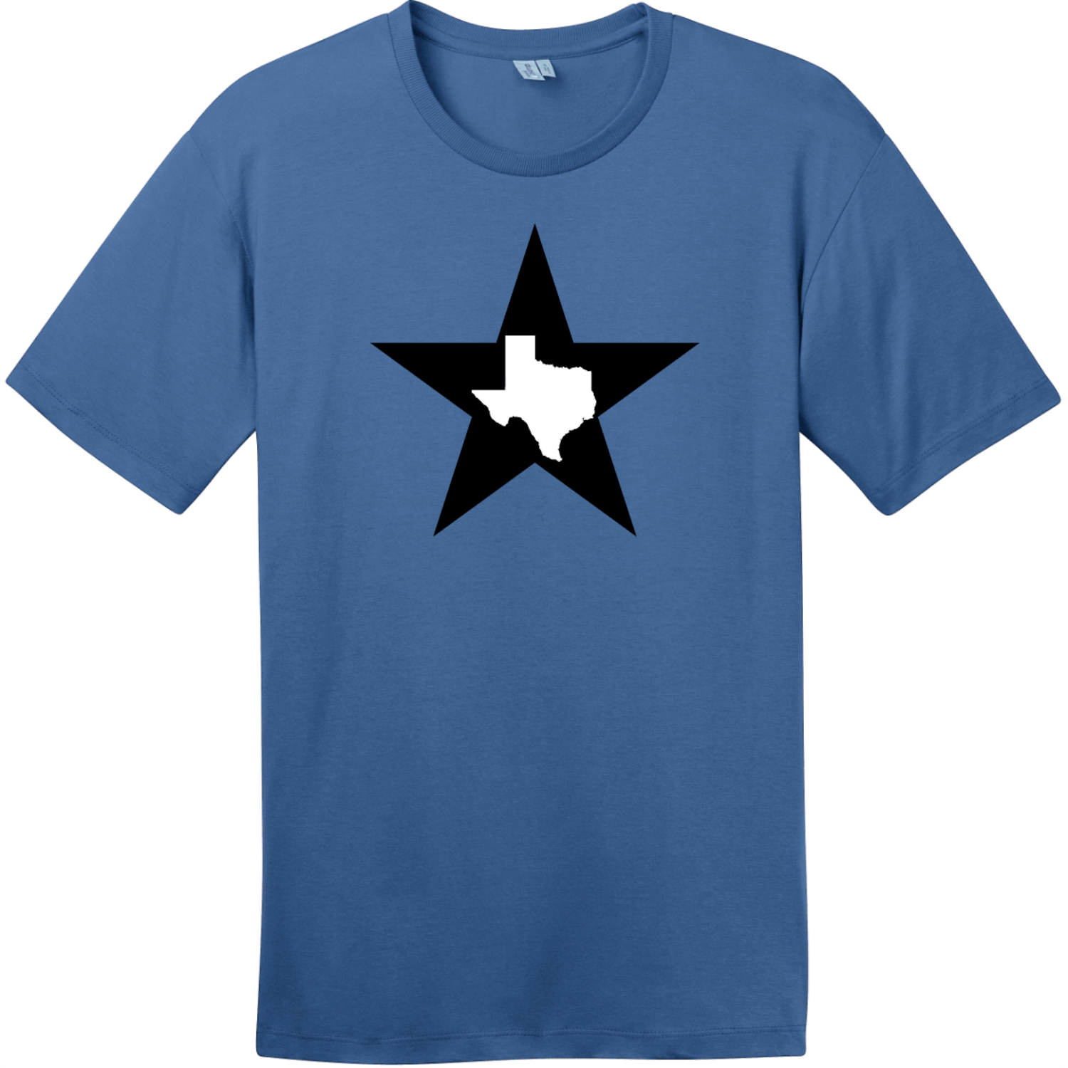 Texas Lone Star State T-Shirt Maritime Blue District Perfect Weight Tee DT104