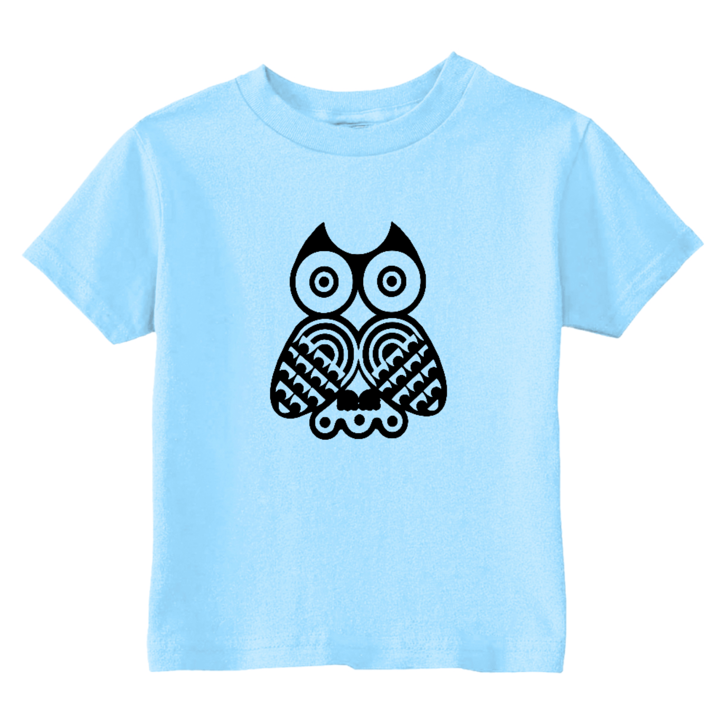 Tribal Owl Toddler T-Shirt Light Blue Toddler T-Shirt