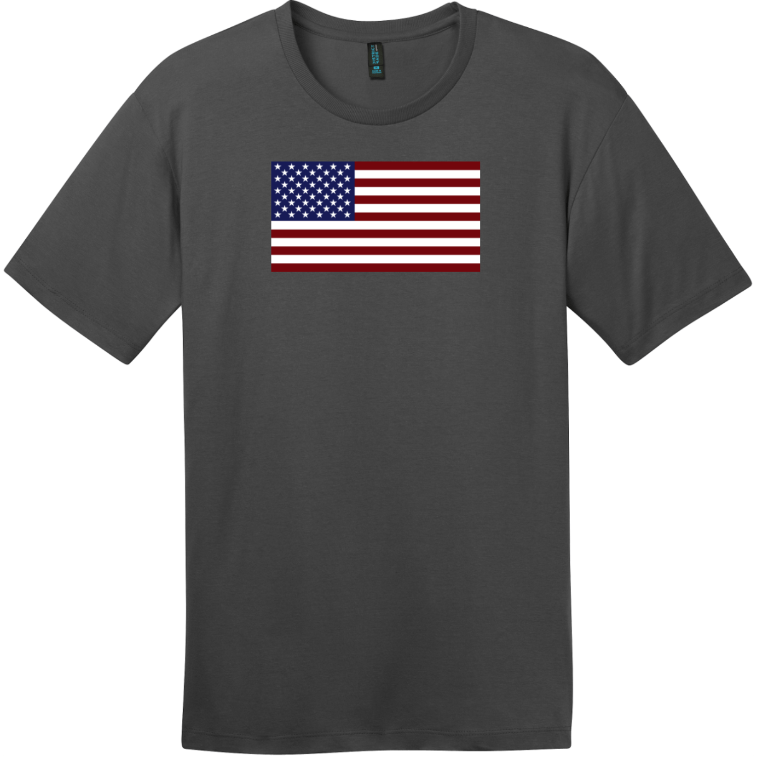 United States of America Flag T-Shirt Charcoal District Perfect Weight Tee DT104