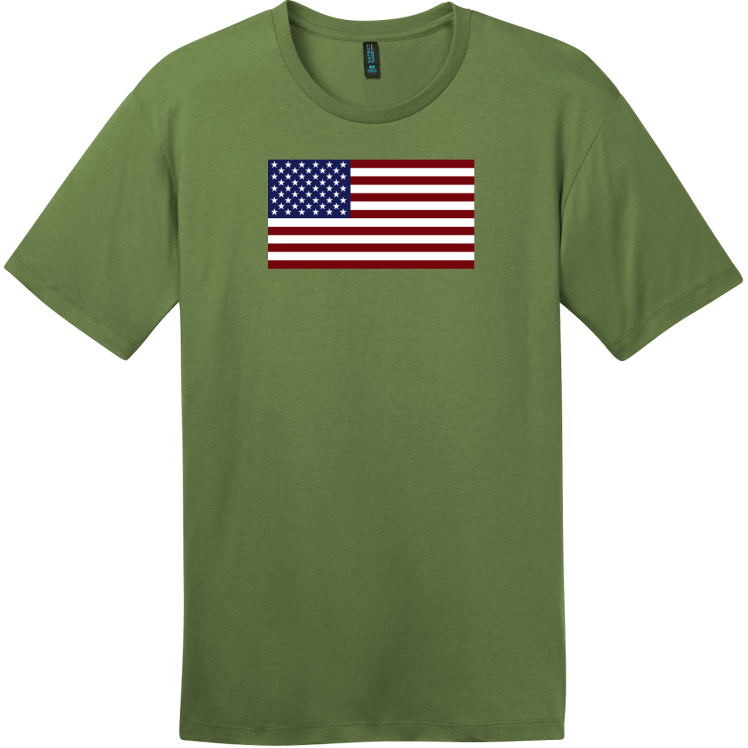 United States of America Flag T-Shirt Fresh Fatigue District Perfect Weight Tee DT104