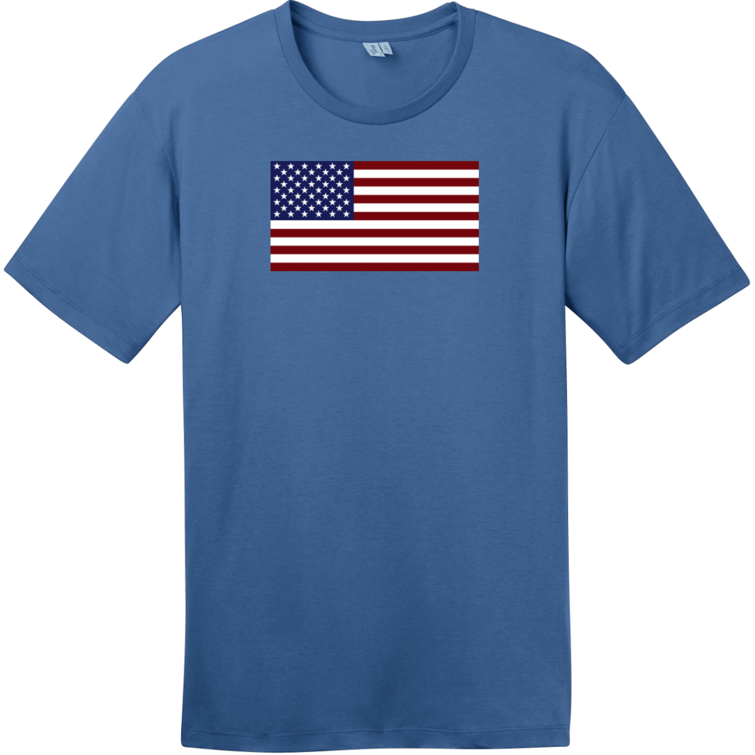 United States of America Flag T-Shirt Maritime Blue District Perfect Weight Tee DT104