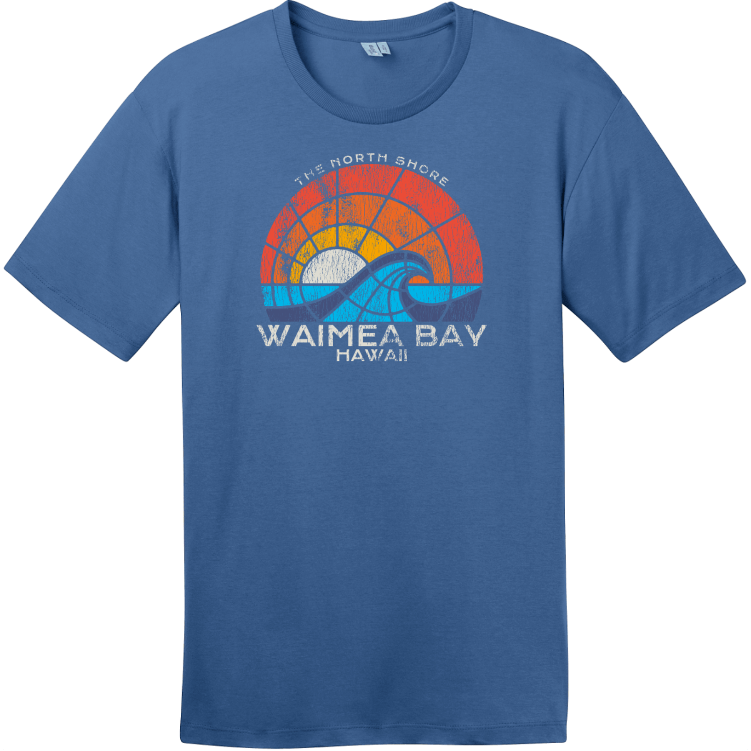 Waimea Bay North Shore Hawaii T-Shirt Maritime Blue District Perfect Weight Tee DT104
