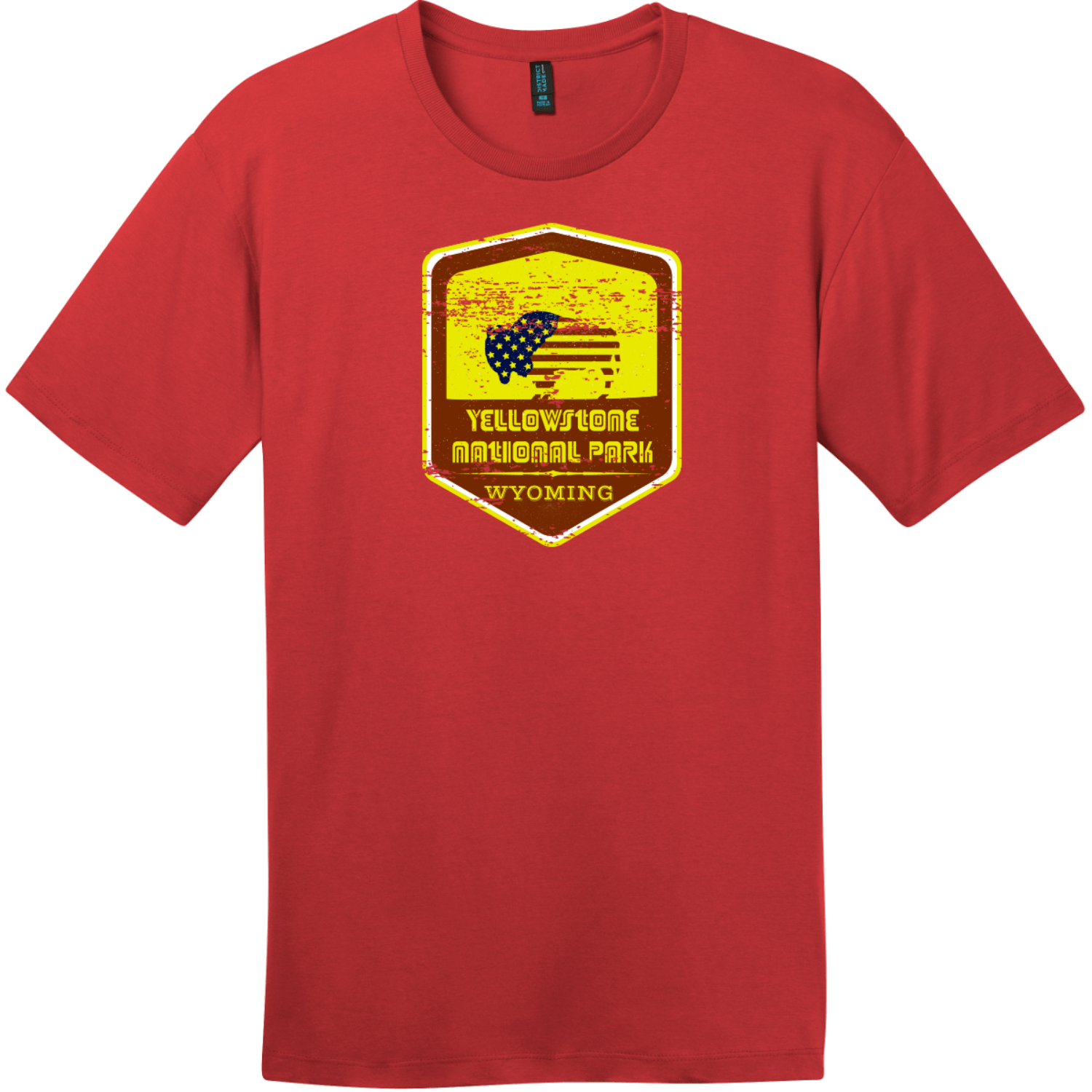 Yellowstone National Park Vintage T-Shirt Classic Red District Perfect Weight Tee DT104