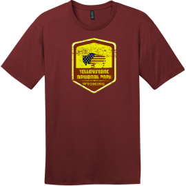 Yellowstone National Park Vintage T-Shirt Sangria District Perfect Weight Tee DT104