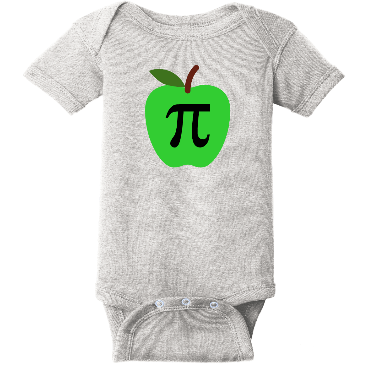 Apple Pi Baby Bodysuit Heather Rabbit Skins Infant Short Sleeve Infant Rib Bodysuit RS4400