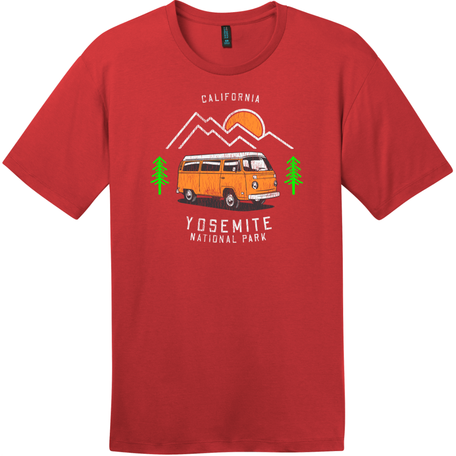 Yosemite Park Road Trip T-Shirt Classic Red District Perfect Weight Tee DT104