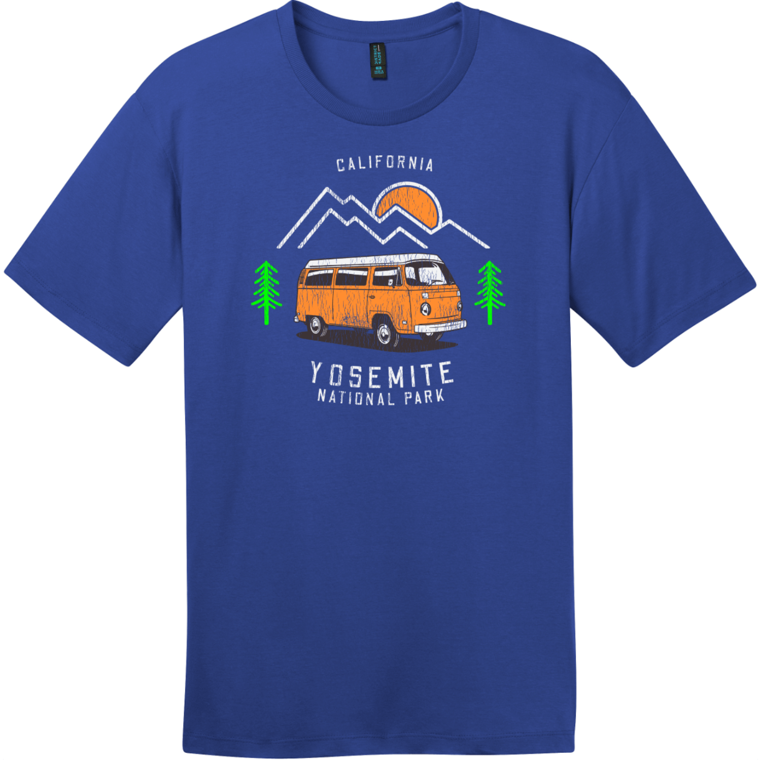 Yosemite Park Road Trip T-Shirt Deep Royal District Perfect Weight Tee DT104