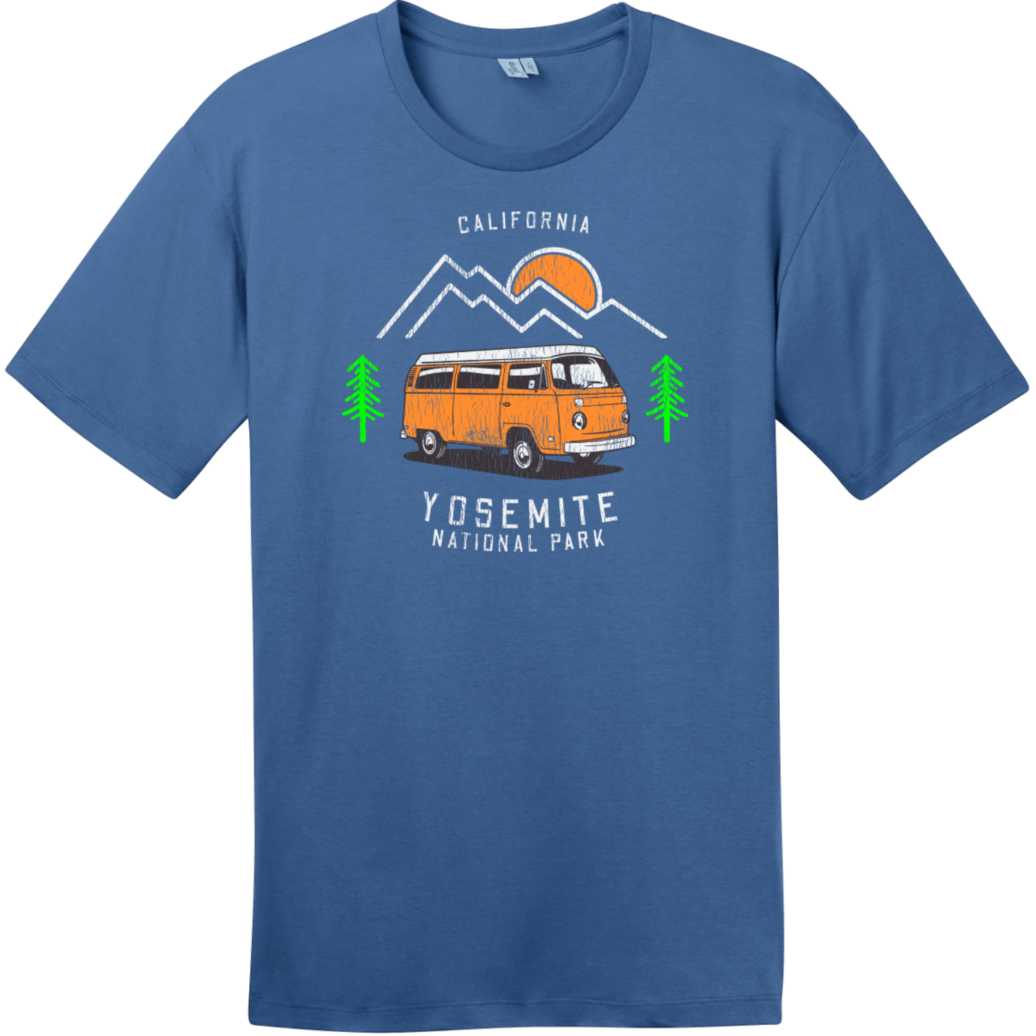 Yosemite Park Road Trip T-Shirt Maritime Blue District Perfect Weight Tee DT104