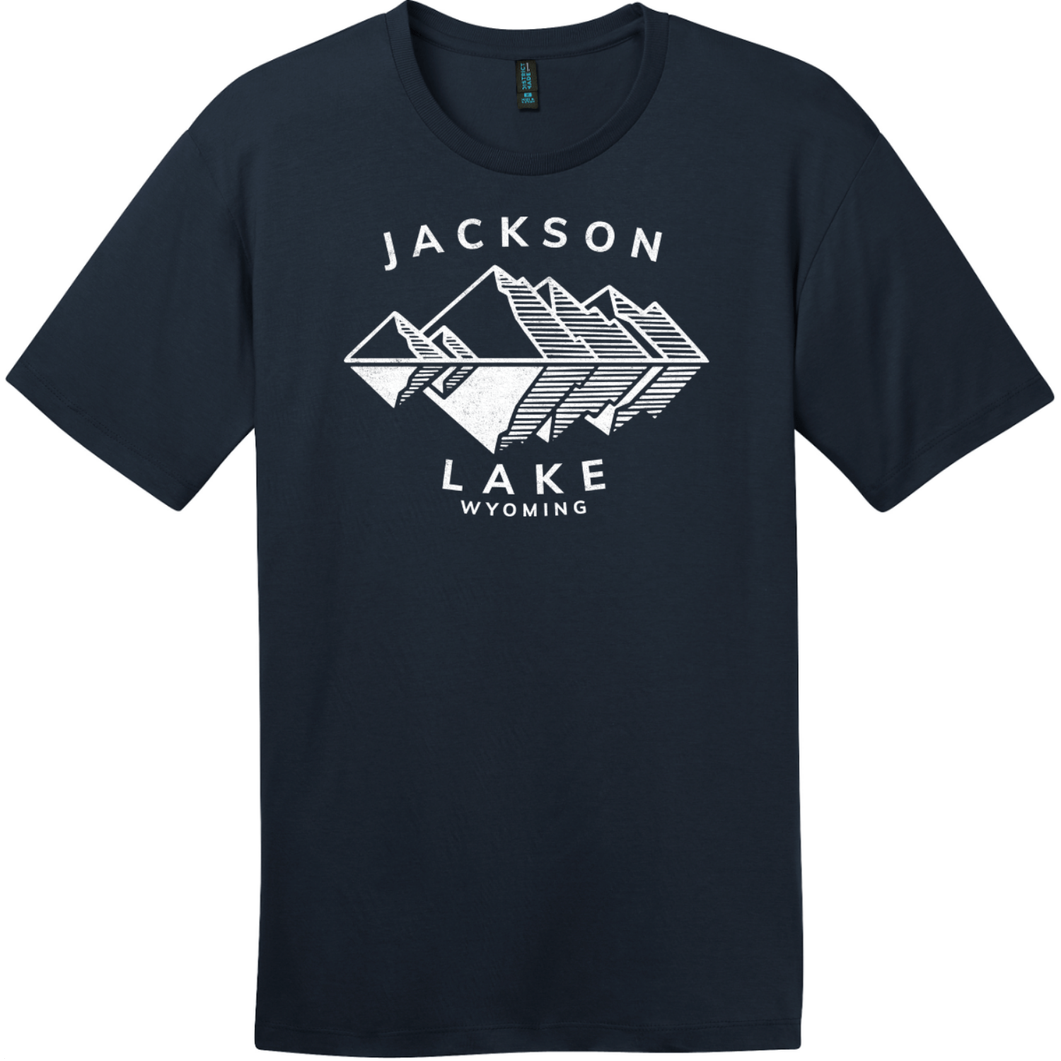 Jackson Lake Wyoming Mountains T-Shirt New Navy District Perfect Weight Tee DT104